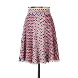 Anthropologie DANCING DOTS SKIRT by Moth, sz M